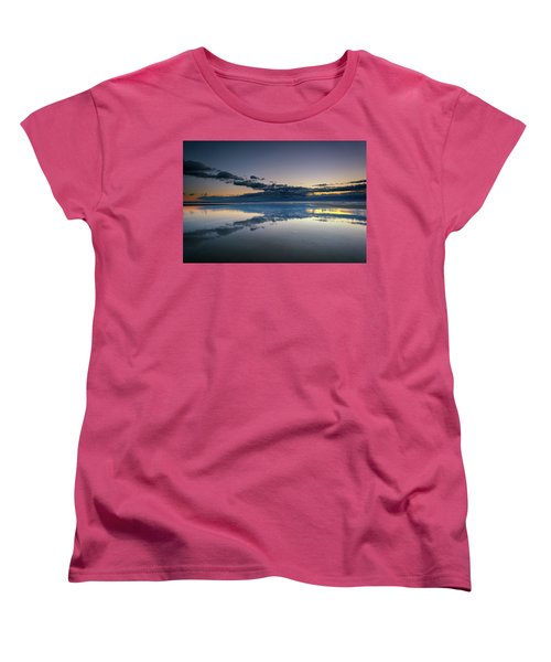 Women's T-Shirt (Standard Cut) featuring the photograph Wells Beach Reflections by Rick Berk