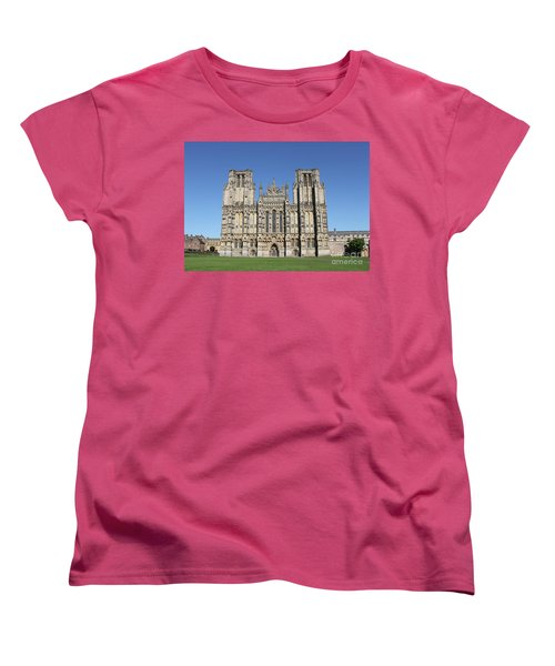 Women's T-Shirt (Standard Cut) featuring the photograph Wells Cathedral by Linda Prewer