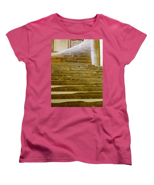 Women's T-Shirt (Standard Cut) featuring the photograph Wells Cathedral Steps by Colin Rayner
