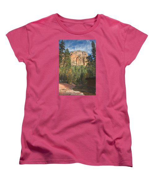 Women's T-Shirt (Standard Cut) featuring the photograph Westfork Trail by Tom Kelly