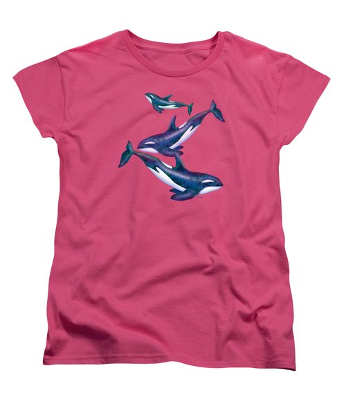 Whale Whimsey Design Women's T-Shirt (Standard Cut) by Teresa Ascone