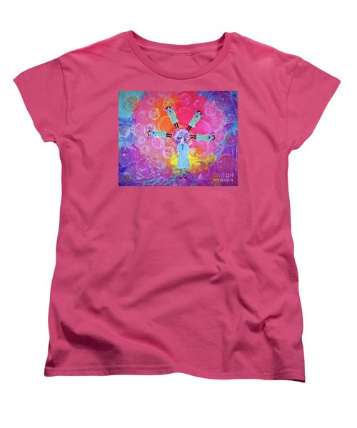 Women's T-Shirt (Standard Cut) featuring the mixed media What To Do by Desiree Paquette