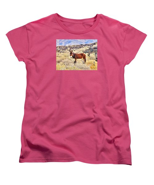 Whatcha Doing Women's T-Shirt (Standard Cut) by Marilyn Diaz