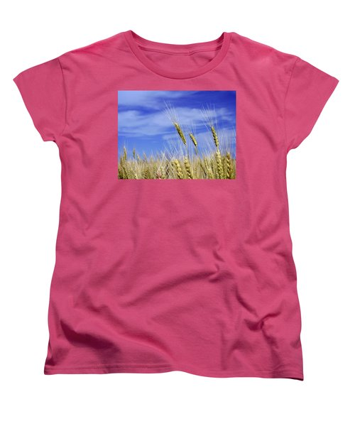 Wheat Trio Women's T-Shirt (Standard Cut) by Keith Armstrong