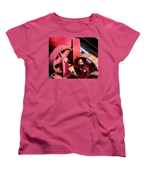 Women's T-Shirt (Standard Cut) featuring the photograph Wheels by Cathy Harper