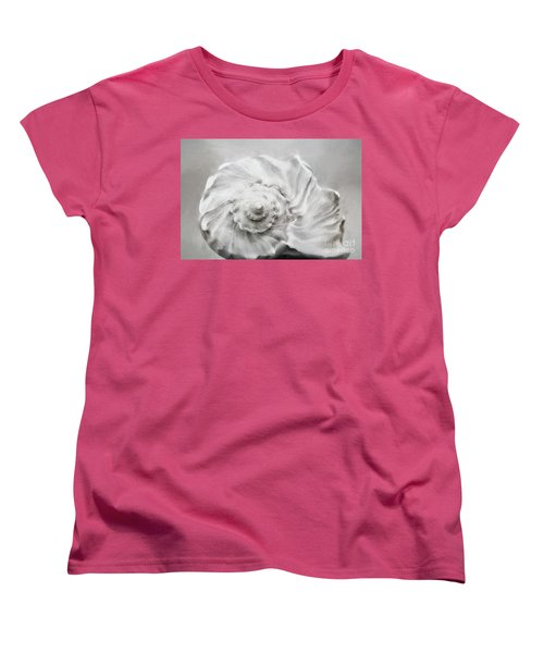 Women's T-Shirt (Standard Cut) featuring the photograph Whelk In Black And White by Benanne Stiens