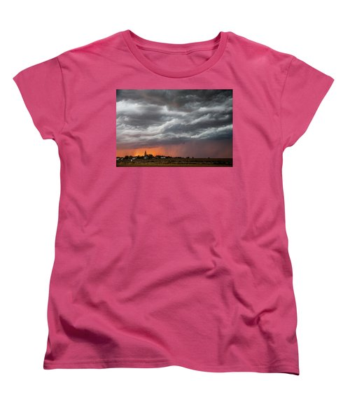 When Trouble Rises.....  Women's T-Shirt (Standard Cut) by Shirley Heier