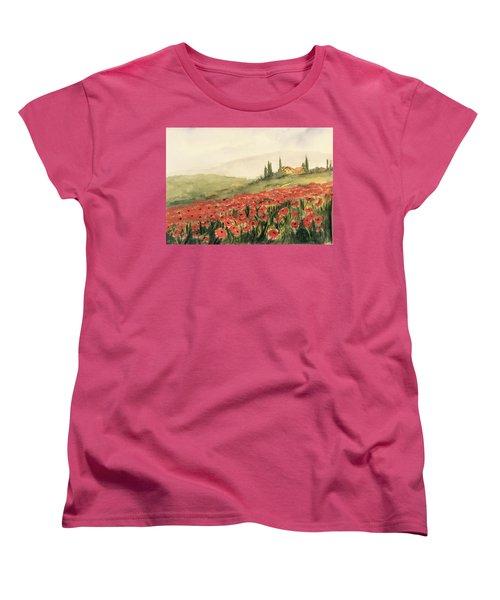 Where Poppies Grow Women's T-Shirt (Standard Cut)