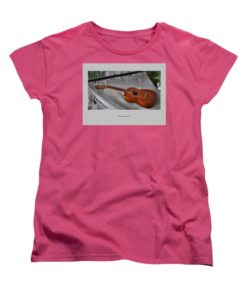 Women's T-Shirt (Standard Cut) featuring the photograph While My Guitar Gently Sleeps by Jim Walls PhotoArtist