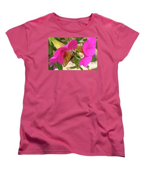 Whirl-about Skipper Butterfly Women's T-Shirt (Standard Cut) by Donna Brown
