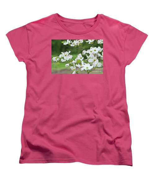 Women's T-Shirt (Standard Cut) featuring the photograph White Flowering Dogwood by Ann Murphy
