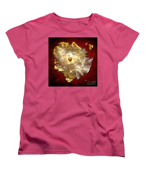 Women's T-Shirt (Standard Cut) featuring the painting White Gold by Alexa Szlavics