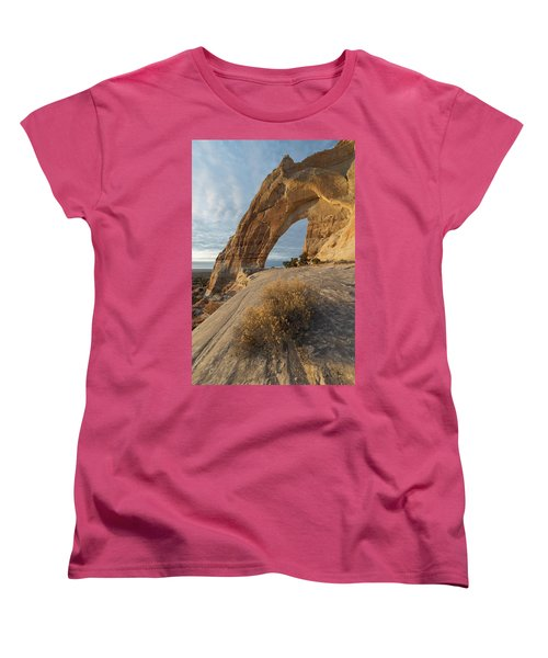 Women's T-Shirt (Standard Cut) featuring the photograph White Mesa Arch by Dustin LeFevre