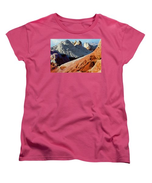 Women's T-Shirt (Standard Cut) featuring the photograph White Pocket 34 by Bob Christopher