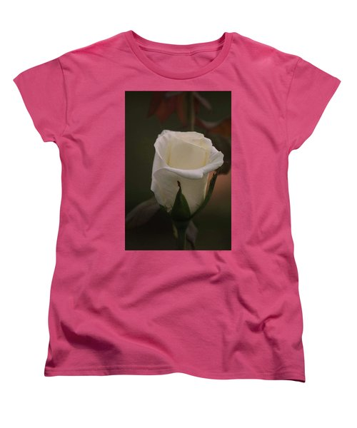 White Rose Women's T-Shirt (Standard Cut) by Donna G Smith
