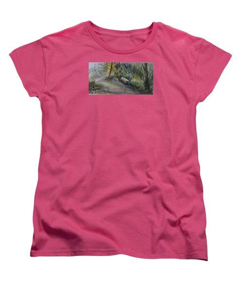 Whiteshell Trail Women's T-Shirt (Standard Cut) by Joanne Smoley
