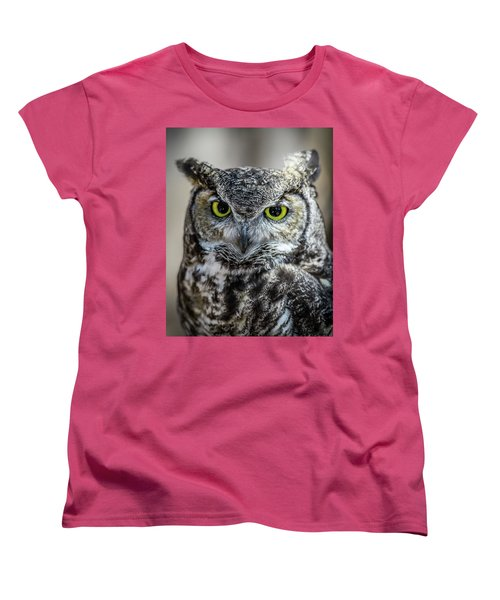 Women's T-Shirt (Standard Cut) featuring the photograph Who by Phil Abrams