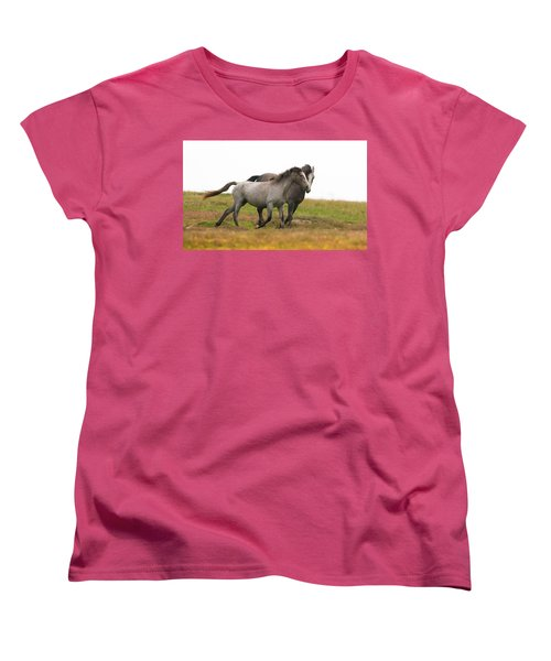 Wild Horses Women's T-Shirt (Standard Cut) by Kelly Marquardt