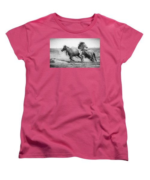 Women's T-Shirt (Standard Cut) featuring the photograph Wild West by Kelly Marquardt