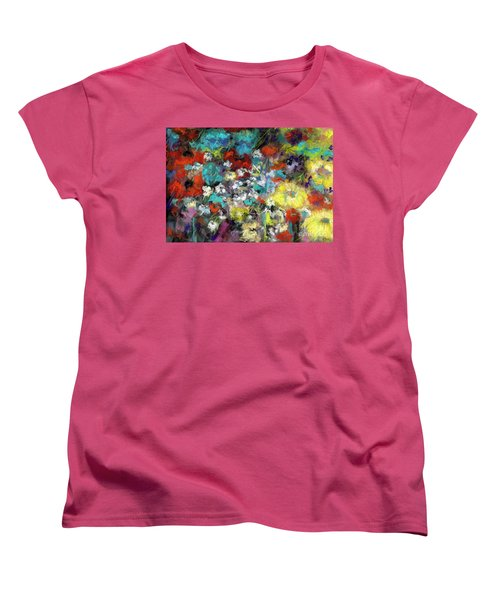 Wildflower Field Women's T-Shirt (Standard Cut) by Frances Marino