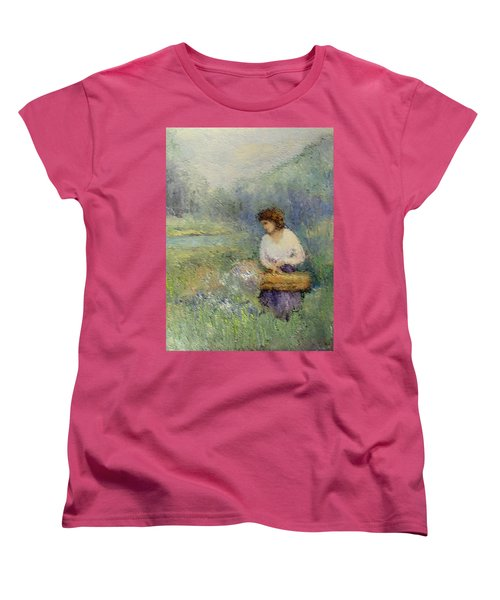 Wildflowers Women's T-Shirt (Standard Cut) by Gail Kirtz