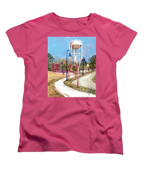 Women's T-Shirt (Standard Cut) featuring the painting Willingham Park by Jim Phillips