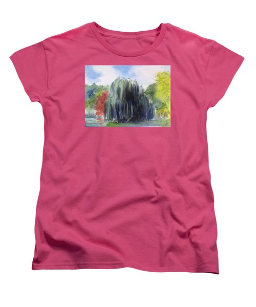 Willow Tree -2  Hidden Lake Gardens -tipton Michigan Women's T-Shirt (Standard Cut) by Yoshiko Mishina