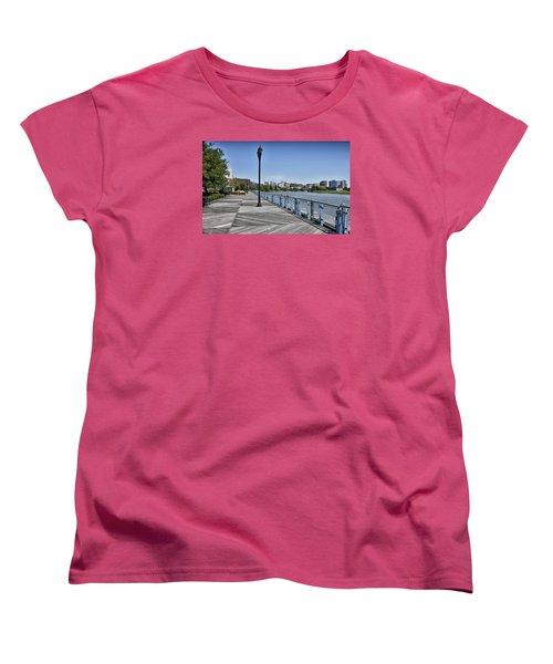 Wilmington Riverwalk - Delaware Women's T-Shirt (Standard Cut) by Brendan Reals