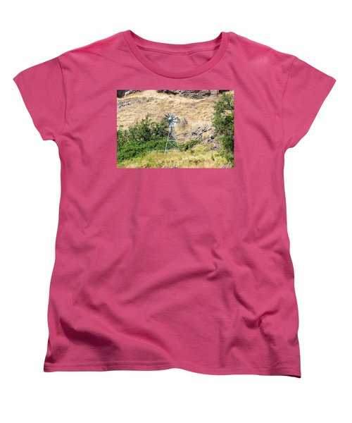 Windmill Aerator For Ponds And Lakes Women's T-Shirt (Standard Fit)
