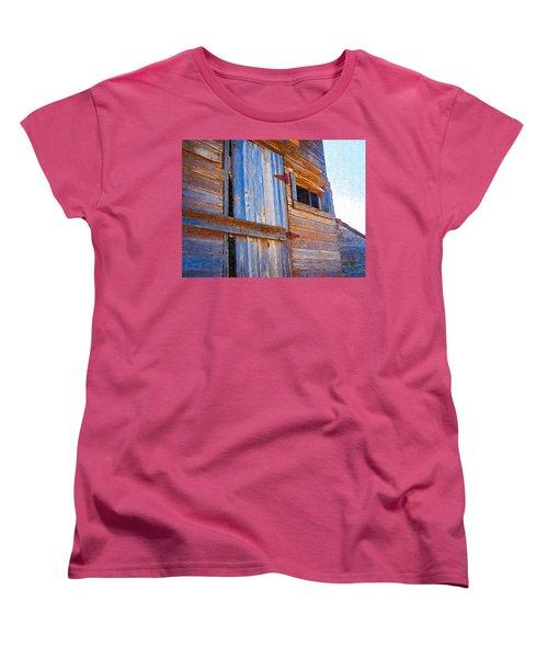 Women's T-Shirt (Standard Cut) featuring the photograph Window 3 by Susan Kinney