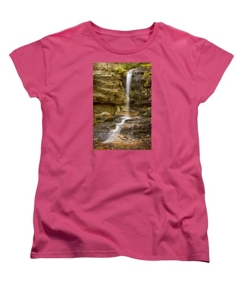 Women's T-Shirt (Standard Cut) featuring the photograph Window Falls In Hanging Rock State Park by Bob Decker