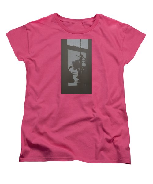Women's T-Shirt (Standard Cut) featuring the photograph Window Shadows 1 by Don Koester