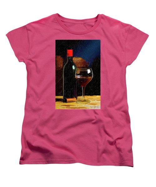 Wine Cellar 01 Women's T-Shirt (Standard Cut) by Wally Hampton