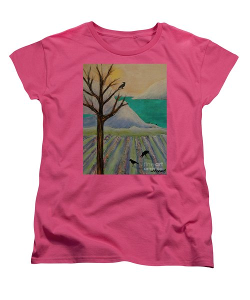 Winter Crows Women's T-Shirt (Standard Cut) by Jeanette French