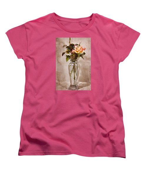 Women's T-Shirt (Standard Cut) featuring the photograph Winter Rose by Joan Bertucci