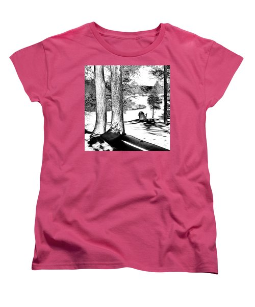Women's T-Shirt (Standard Cut) featuring the photograph Winter Shadows by David Patterson
