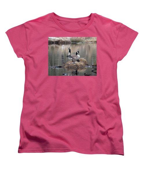 Winter Surprise Women's T-Shirt (Standard Cut) by I'ina Van Lawick
