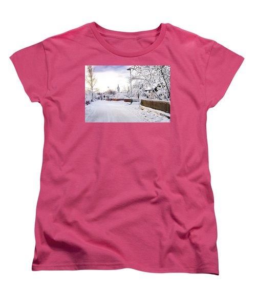 Winter Wonderland Women's T-Shirt (Standard Cut) by Marius Sipa