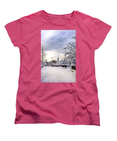 Winter Wonderland Redux Women's T-Shirt (Standard Cut) by Marius Sipa