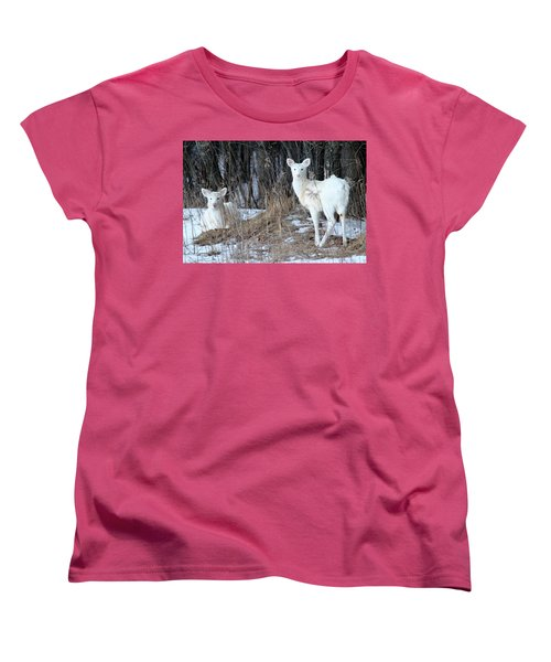 Wintery White Women's T-Shirt (Standard Cut) by Brook Burling