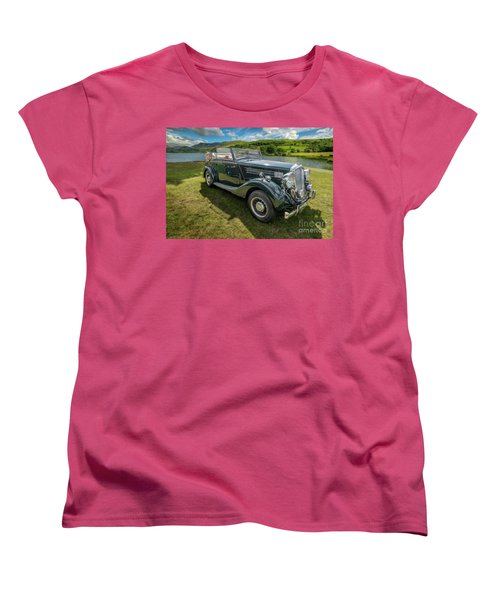 Women's T-Shirt (Standard Cut) featuring the photograph Wolseley Classic Car by Adrian Evans
