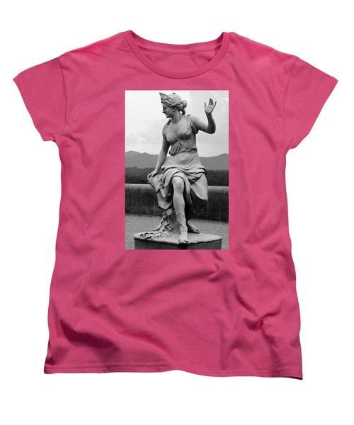 Women's T-Shirt (Standard Cut) featuring the sculpture Woman Sculpture Nc by Eric  Schiabor
