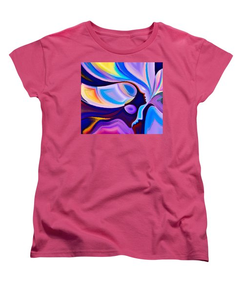 Women's T-Shirt (Standard Cut) featuring the digital art Women by Karen Showell