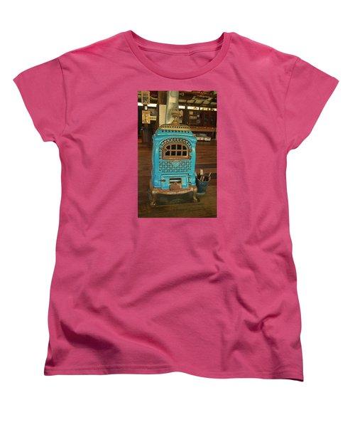 Wood Burning Heater Women's T-Shirt (Standard Cut) by Ronald Olivier