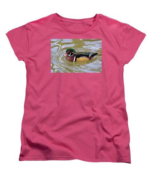 Wood Duck Women's T-Shirt (Standard Cut) by David Stasiak