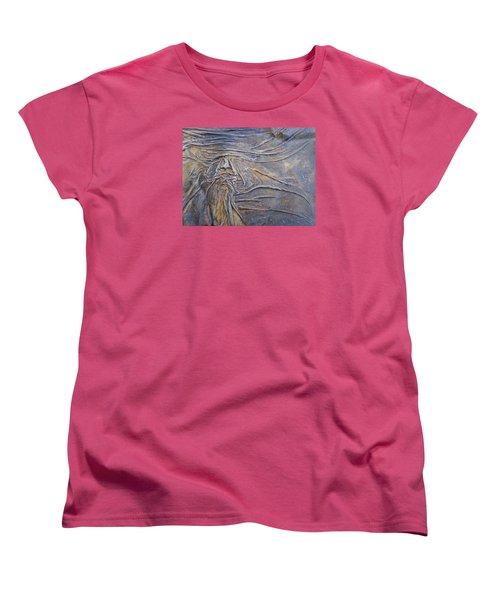Wood Face  Women's T-Shirt (Standard Cut) by Steve  Hester