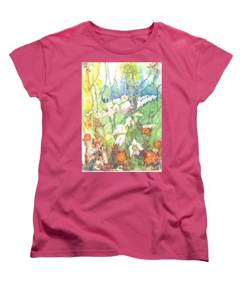 Women's T-Shirt (Standard Cut) featuring the painting Woodland Garden by Renate Nadi Wesley