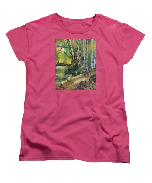 Woods In The Afternoon Women's T-Shirt (Standard Cut) by Robin Maria Pedrero