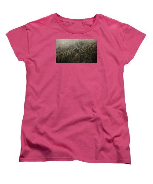 Woods In Winter Women's T-Shirt (Standard Cut) by Vittorio Chiampan
