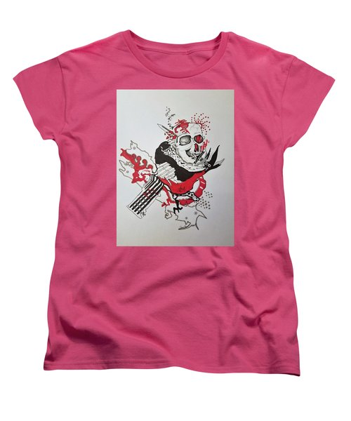 World Down-side-up Women's T-Shirt (Standard Cut) by Kevin F Heuman